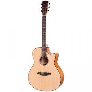SUNSTORM太陽風S-200 初學者入門彈唱40寸GA桶民謠單板木吉他-40寸原木色