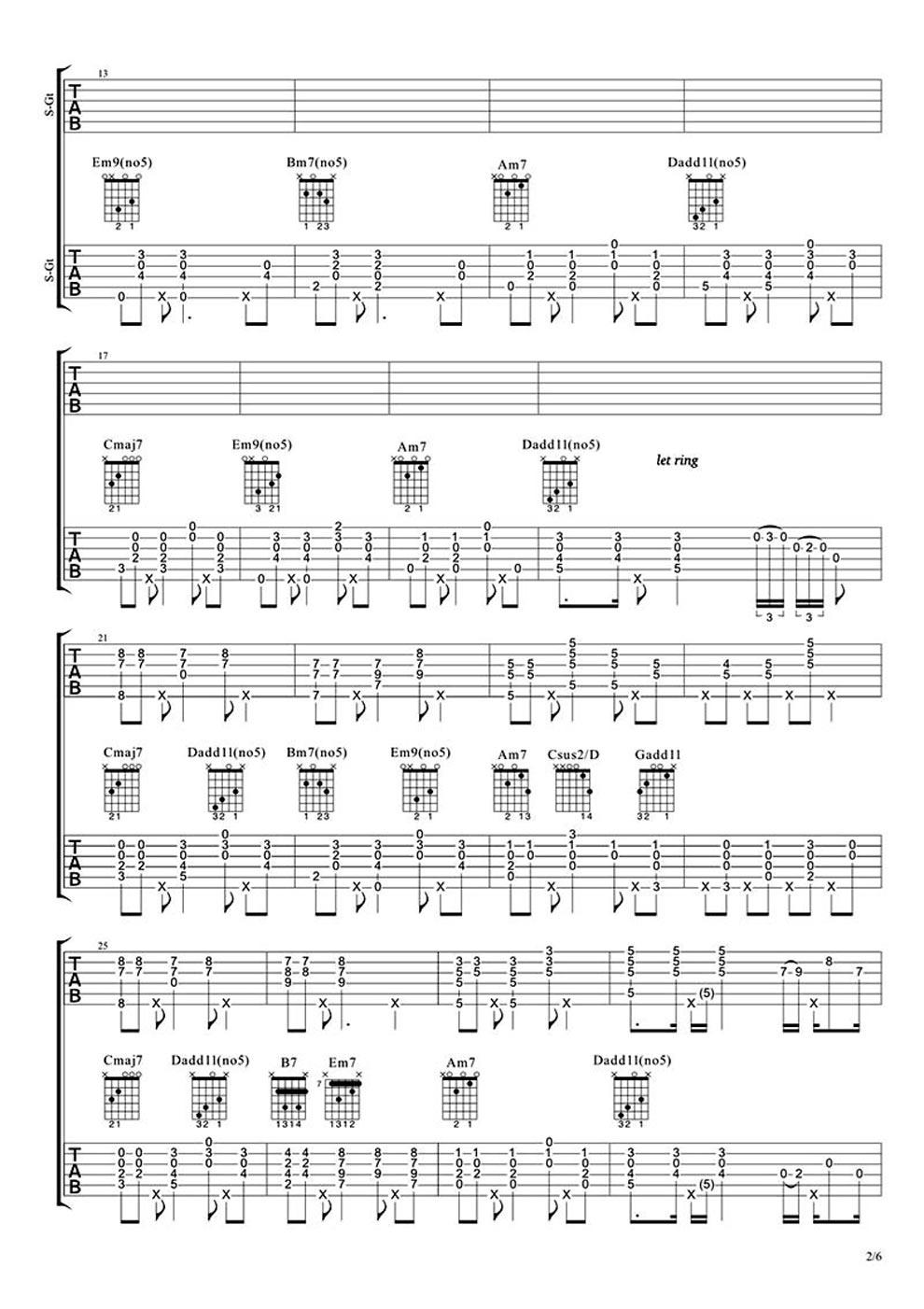 致爱your-song吉他谱_致爱 your song吉他谱 -彼岸吉他 - 一站式吉他爱好者服务平台