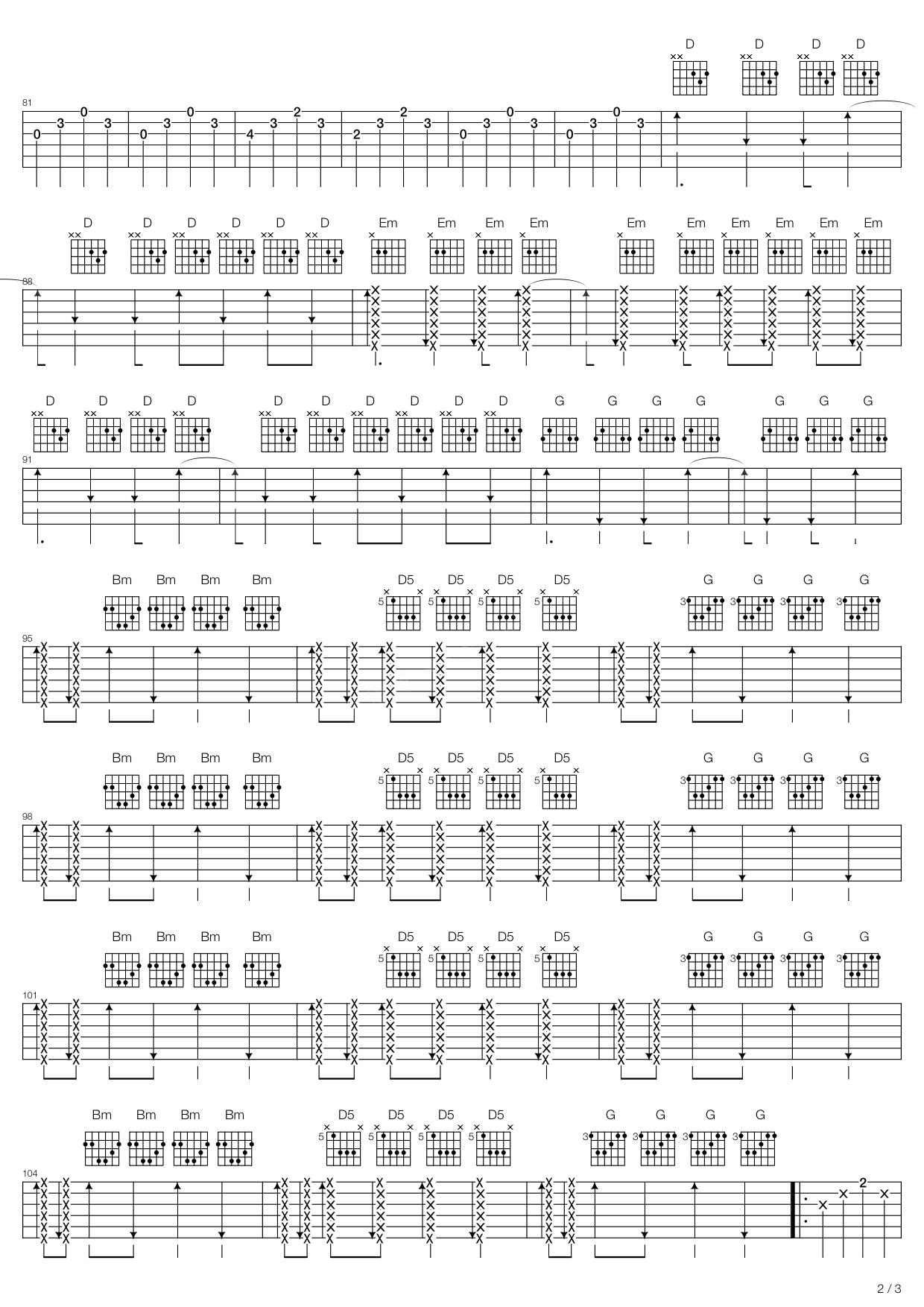 Sunday Bloody Sunday吉他谱 U2-彼岸吉他 - 一站式吉他爱好者服务平台
