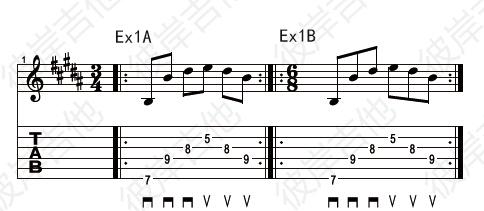 二拍子的歌曲_怎么更好的弹奏6/8八六拍时值的歌曲-彼岸吉他 - 一站式吉他爱好 ...